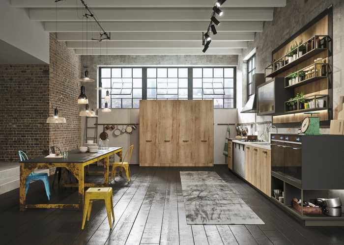 Desain Dapur Industrial