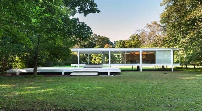 Farnsworth House karya Ludwig Mies Van de Rohe