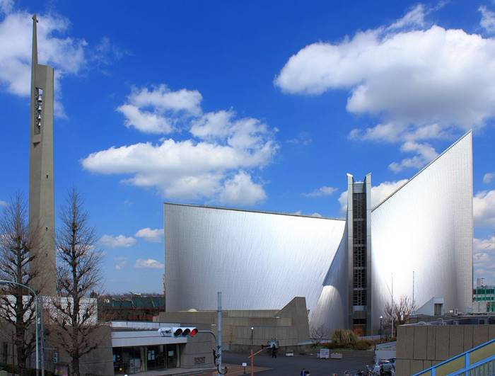 St. Mary's Cathedral di Tokyo karya Kenzo Tange