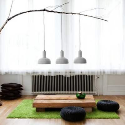 Desain ruang keluarga lesehan tanpa kursi